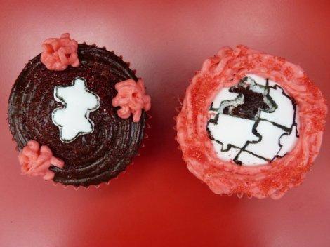 Valentine cupcakes zoom