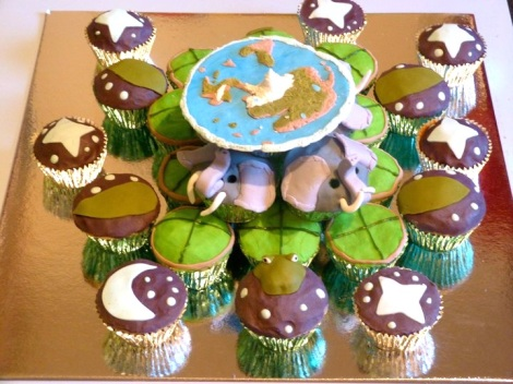 Discword cupcakes
