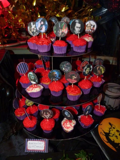 Tim Burton mini cupcakes