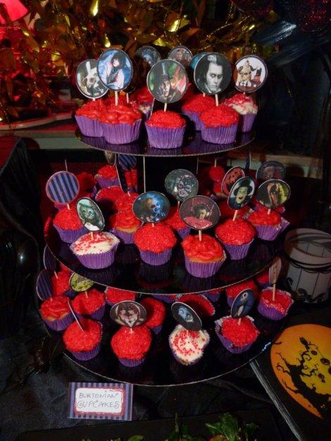 Tim Burton mini cupcakes