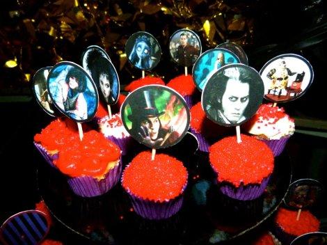 burtonian cupcakes