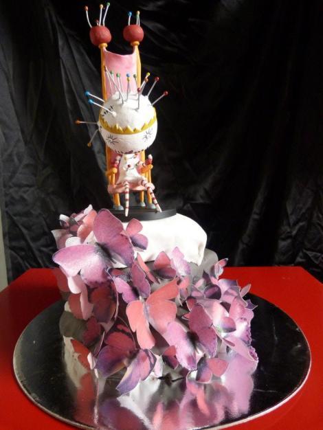 pin cushion cake