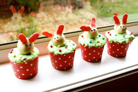 Hoping bunny cupcakes