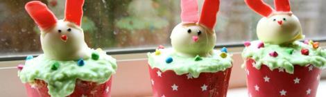Hopping bunny cupcakes