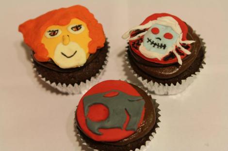 Liono Mummra Thundercats cupcakes