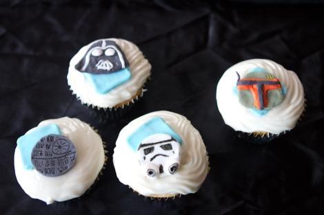Darth Vader, Boba Fett, Stormtrooper cupcakes