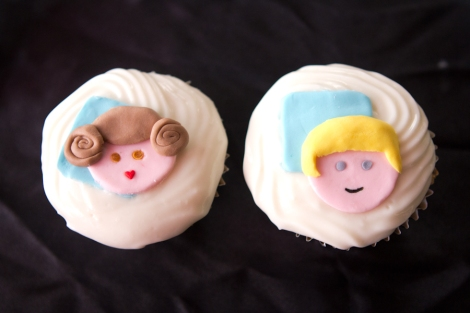 Leia Luke Skywalker Starwars cupcakes