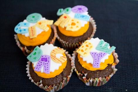 orange typography cupcakes   cupcaketeer