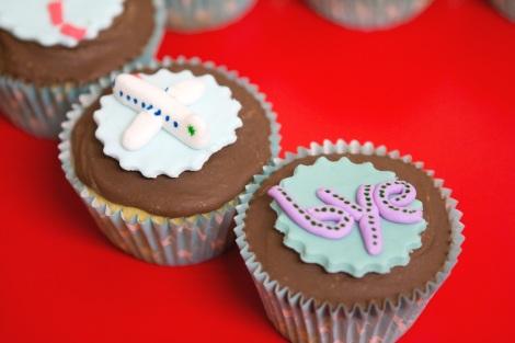 Road map cupcakes
