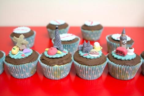 Europe cupcakes