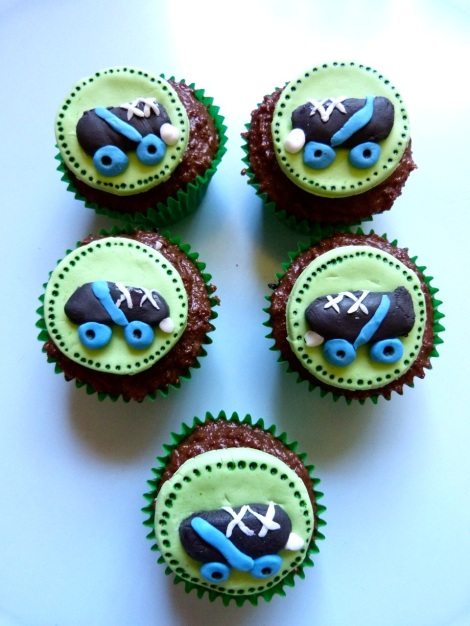 Skate toppers cupcake