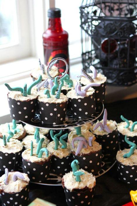 Tentacle cupcakes