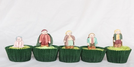 Lord of the rings Hobbits cupcakes by Cupcaketeer