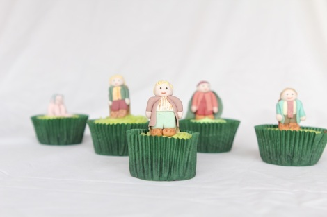 Lord of the rings  Hobbits Merry cupcakes by Cupcaketeer