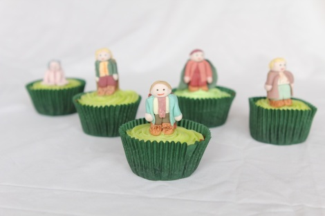 Lord of the rings Hobbits Pippin cupcakes by Cupcaketeer