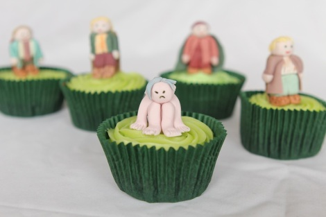 Lord of the rings  Gollum cupcakes by Cupcaketeer