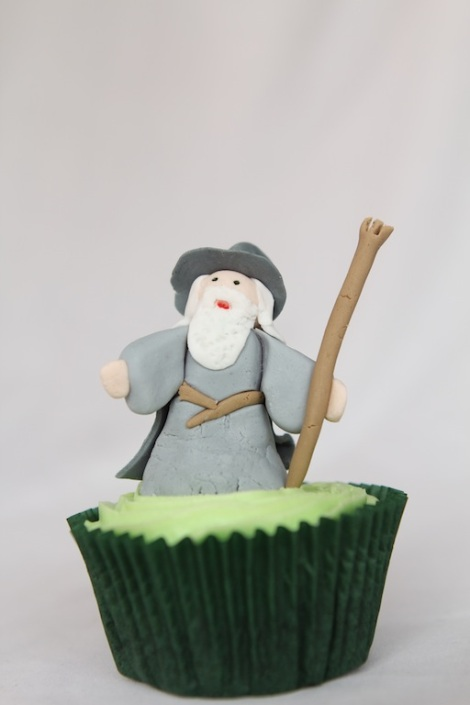 Lord of the rings Gandalf cupcakes by Cupcaketeer