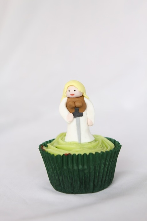 Lord of the rings Eowyn cupcakes by Cupcaketeer