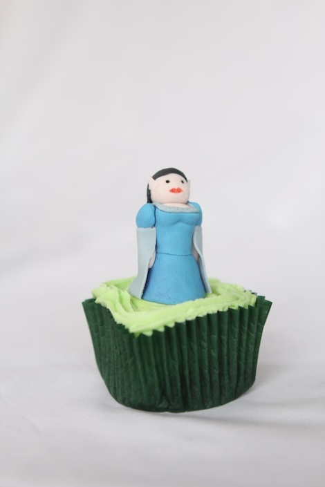 Lord of the rings Arwen cupcakes by Cupcaketeer