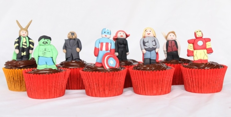 The Avengers cupcakes by Cupcaketeer