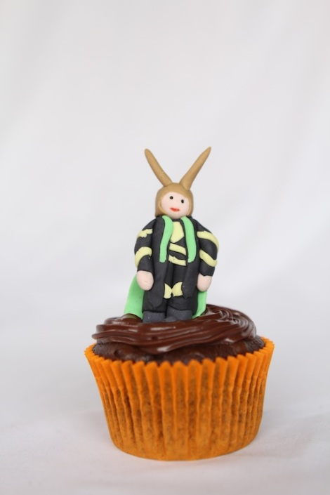 Loki - The Avengers cupcakes by Cupcaketeer