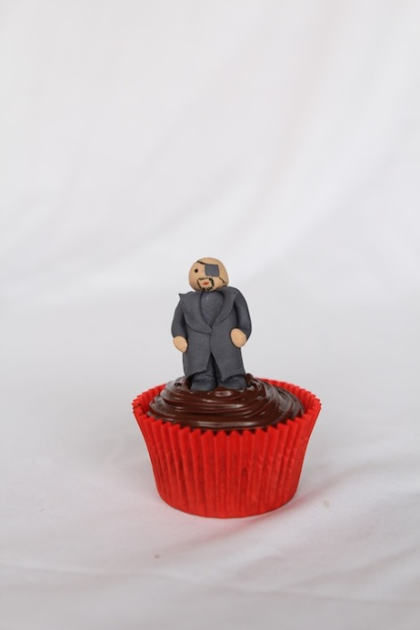 Nick Fury - The Avengers cupcakes by Cupcaketeer