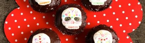 Sugar skull cupcakes