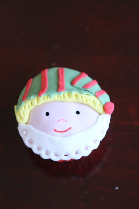 Little Elf cupcake by Cupcaketeer