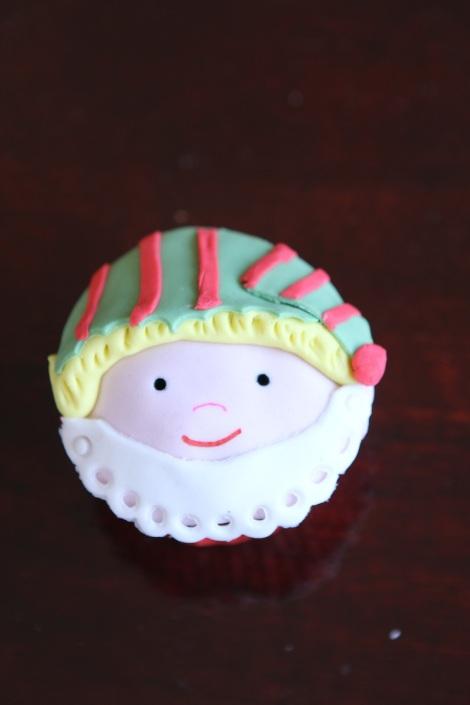 Little Elf cupcake by Cupcaketeer