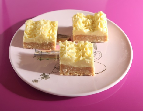 no bake lemon coconut slices
