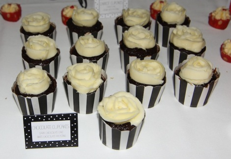 Double chocolate cupcakes Wedding cupcakes display