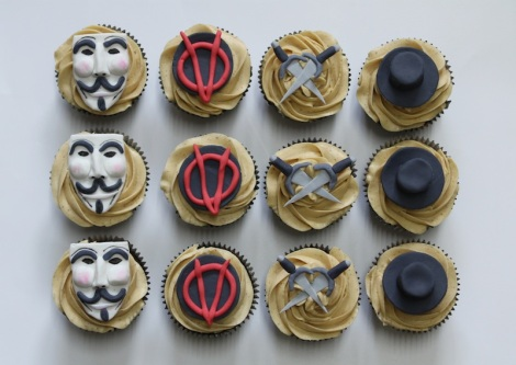 V of Vendetta cupcakes