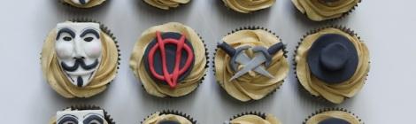 V of Vendetta cupcakes